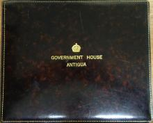 West Indies, Antigua, George VI, official Government House, leather bound v