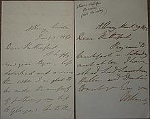 Thomas Babbington MACAULAY, Lord Macaulay, ALS, Jan 3, 1848 (in error, text