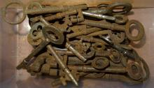 Keys, a box of 19th and 20th century