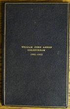 William John Anson, Coldstream, small leather bound privately printed book