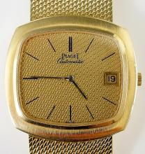 Piaget - an 18ct yellow gold gentleman's wristwatch, the rounded square cas