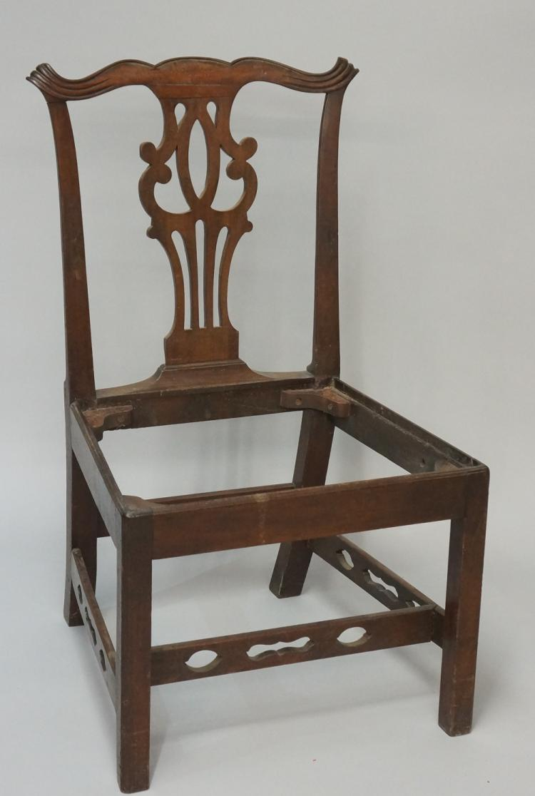 A george iii mahogany chippendale style dining chair with se for Dining chair shapes