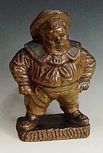 A salt glazed Tam-o-shanter tobacco jar realistically modelled, 31cm high,