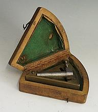 A WWI German artillery clinometer, by Simson & Co. Suhl, numbered 3639, the