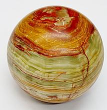 A large onyx sphere, 20cm diameter