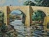 Reginald Green RWA.ACE (fl.1911-1938) - The River Dart at Newbridge, oil on, Reginald Green, Click for value