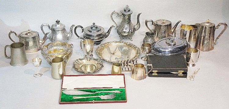 A quantity of miscellaneous plated ware (faults)