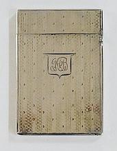 A George IV silver card case, the front and back decorated with alternating