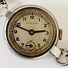 A ladies Rolco stainless steel wristwatch, the silvered dial with Arabic nu