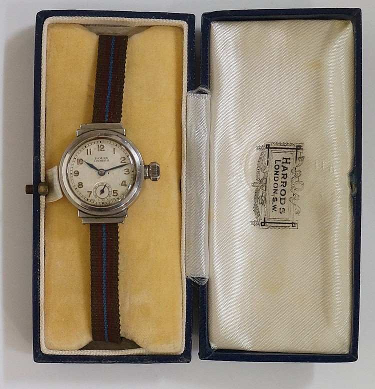 A ladies stainless steel Rolex Oyster wristwatch, the dial with Arabic nume