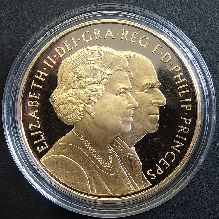 Coin, Great Britain, Royal Mint, Proof Gold £5, 2007, in capsule of issue,