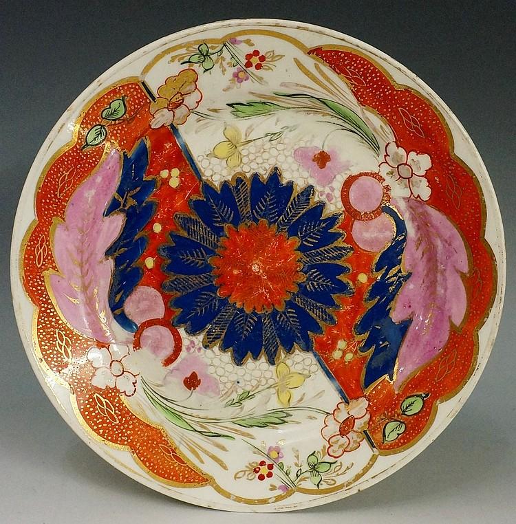 Pinxton - a pattern number 355 Imari pattern circular plate, 21cm diameter,
