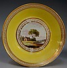 Pinxton - a rare Mansfield William Billingsley decorated yellow ground trio