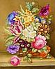 James Rouse Snr (1802-1884) - a fine Derby rectangular botanical porcelain