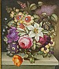 James Rouse Snr (1802-1884) - a good Derby rectangular botanical porcelain