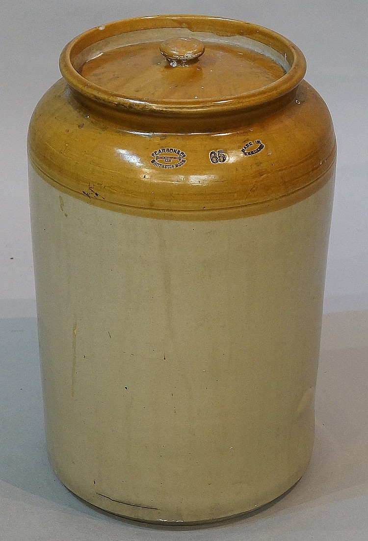 A large stoneware jar and cover, the shoulder impressed Pearson & Co, Chest
