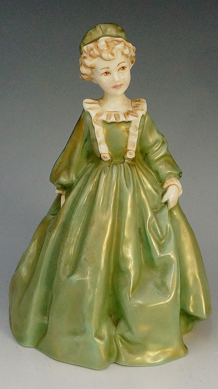 A Royal Worcester figure - Grandmother's Dress by F G Doughty, 17cm high, p