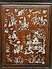 A Chinese hardwood cabinet of rectangular form, finely inlaid in mother of