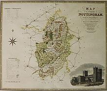 C & J Greenwood - Map of The County of Nottingham, from an actual survey fr