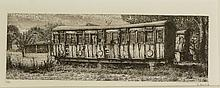 Nicholas Ward - Derelict Vans, West Somerton, two engravings both signed in