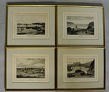 William Daniell R.A. - four limited edition aquatints - A Voyage Around Gre