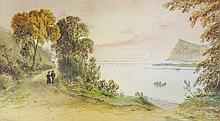 F. Walters - The Teign, South Devon, watercolour, signed and inscribed with