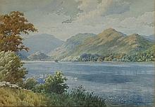 Albert Rosser (1899-1995) - Lake District mountainous and lake scene, water
