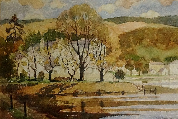 David Russell Anderson (British 1884-1973) - Gareloch, watercolour, signed
