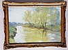 R.H.Shackleton - On The Derwent, Malton, Yorks, oil on artist board, 24cm x