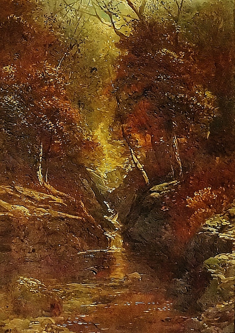 Clarence Roe - Padley Brook, Derbyshire, oil on canvas, inscribed verso wit