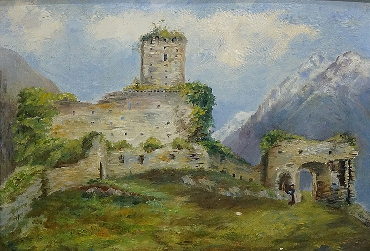Priscilla A. Fry - Beaucen Castle near Argelès, Pyrenees, April 23rd 1900,