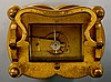 A mid 19th Century Austrian gilt brass quarter repeating carriage clock wit