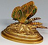 An interesting 19th Century French sprung articulated butterfly desk clip w