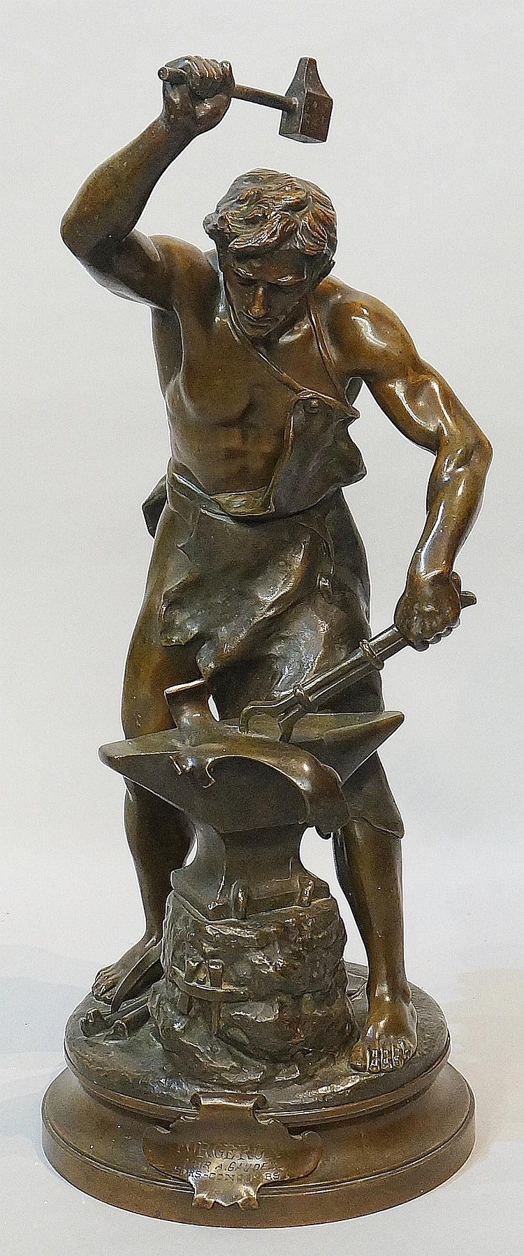 Adrien Etienne Gaudez (1845-1902) - Forgeron, lightly clad blacksmith at th