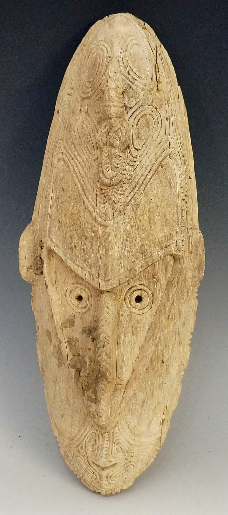 A Papua New Guinea Sepic River mask, 39cm high