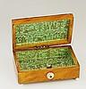 An early 19th Century rectangular tortoiseshell veneered box, the shallow d