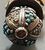 Russian Judaica - a 19th Century gem set ebony yad and sleeve, the yad with