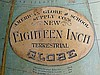 An American Globe & School Supply Co 'New 18'' Terrestrial Globe' contained