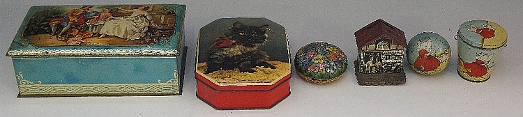 A German tinplate house money box, transfer printed and embossed with horse