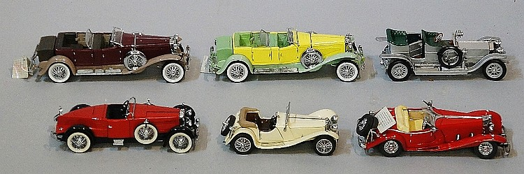 Six Franklin Mint die cast precision models including: Mercedes 500k Specia