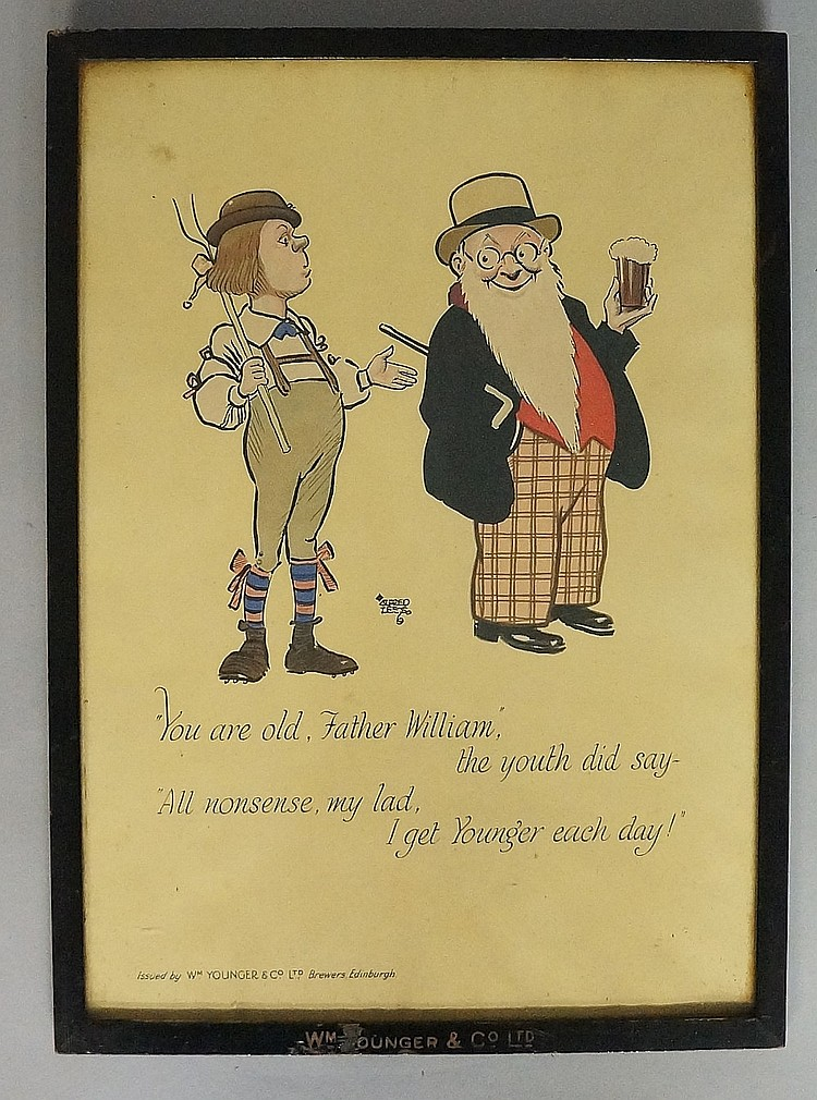 Advertising - a William Younger & Co Ltd print by Alfred Lees? printed with