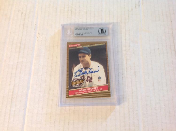 Bobby Doerr 1986 Donruss Baseball Card W Beckett Authentica