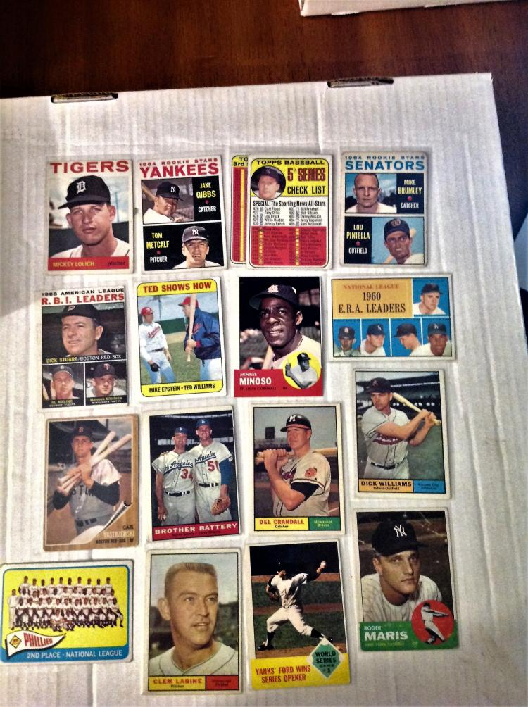 1961 1965 Topps Baseball 83 Card Lot With Star Players Vario