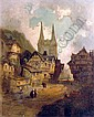 An Oil on Canvas, Boppart on the Rhine - Germany,, Henry Foley, Click for value
