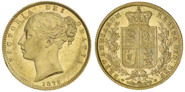 Aust. Gold - Imperial Sovereigns - Shield Reverse