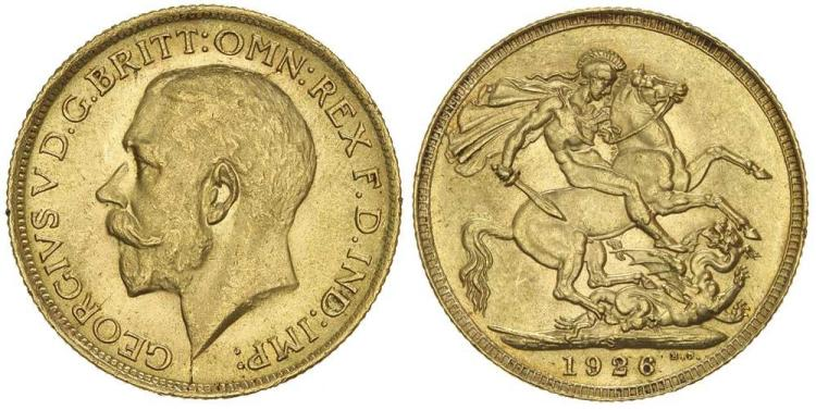 Aust. Gold - Imperial Sovereigns - St George Reverse