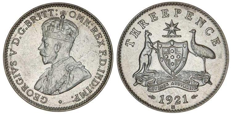 Aust. Commonwealth - Threepences
