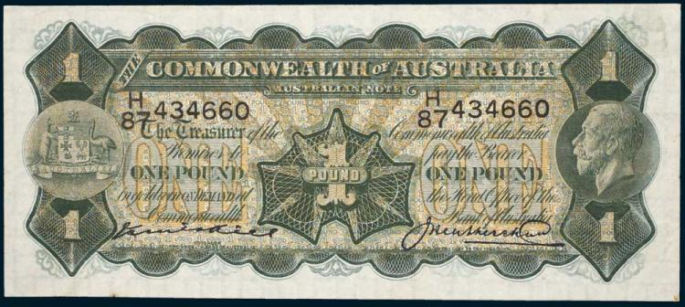 Aust. Banknotes - Commonwealth Pre-Decimal Issues
