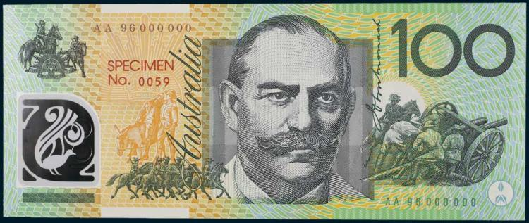 Aust. Banknotes - Specimen and Special Numbered Issues