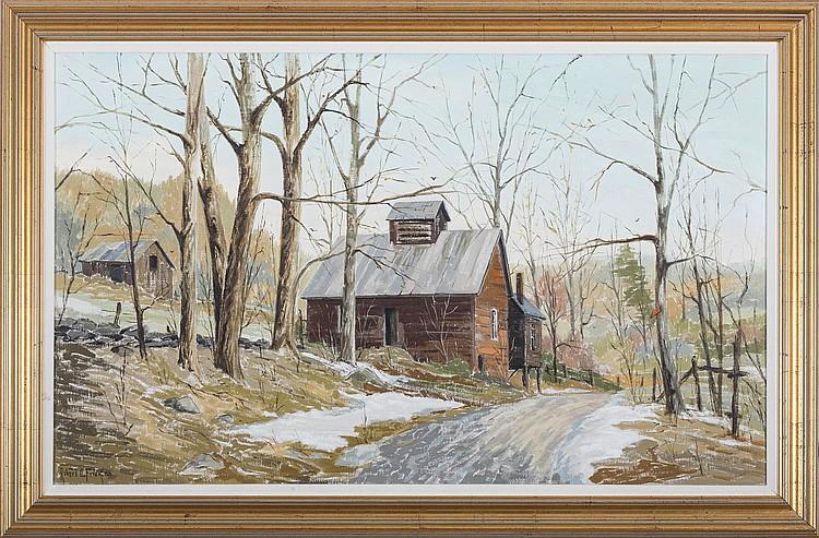 ROBERT O. FRICK (AMERICAN 1920-1997). APRIL IN THE SUGAR BUSH.